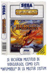 "Portada de ""Heroes of the Lance"" de la Master System"