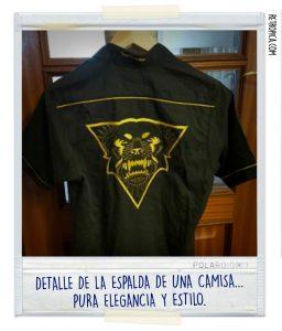 """Detalle """"típico"""" de una camisa Rottweiler"""