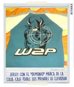 """Jersey de W2P con su """"demonio"""""""