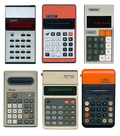 Calculadoras antiguas similares a las Casio
